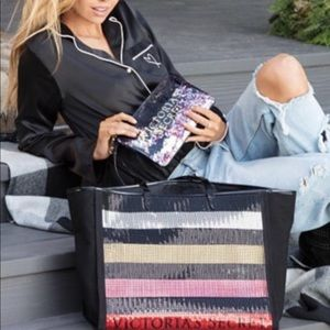 Vs sequin bling tote and pouch Christmas 2017